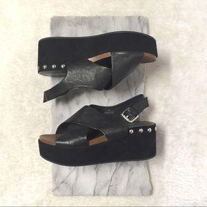 Rudsak Flatform Crisscross Sandal Wedges Sz 7
